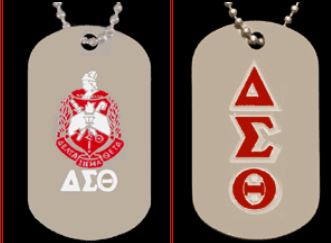 DST DBL SIDED DOG TAG
