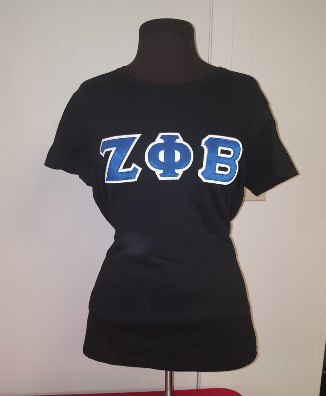 ZPB 3 LETTER EMB TEE - LADIES BLACK