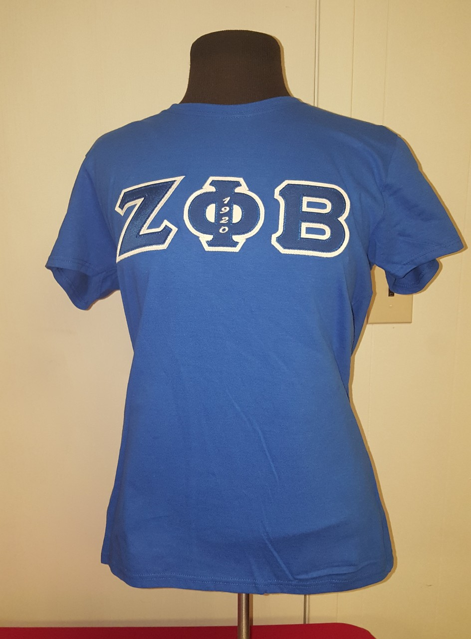 ZPB 3 LETTER EMB TEE - LADIES ROYAL