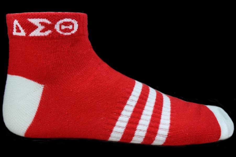 DST ANKLE SOCKS - RED/WHT