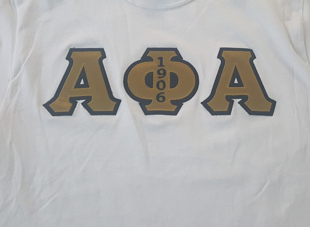 APA 3 LETTER EMBROIDERED - WHITE
