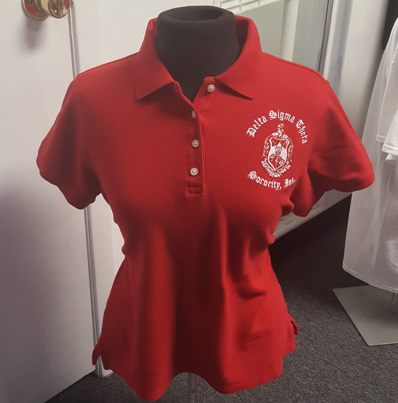 DST SHIELD PIQUE POLO - RED