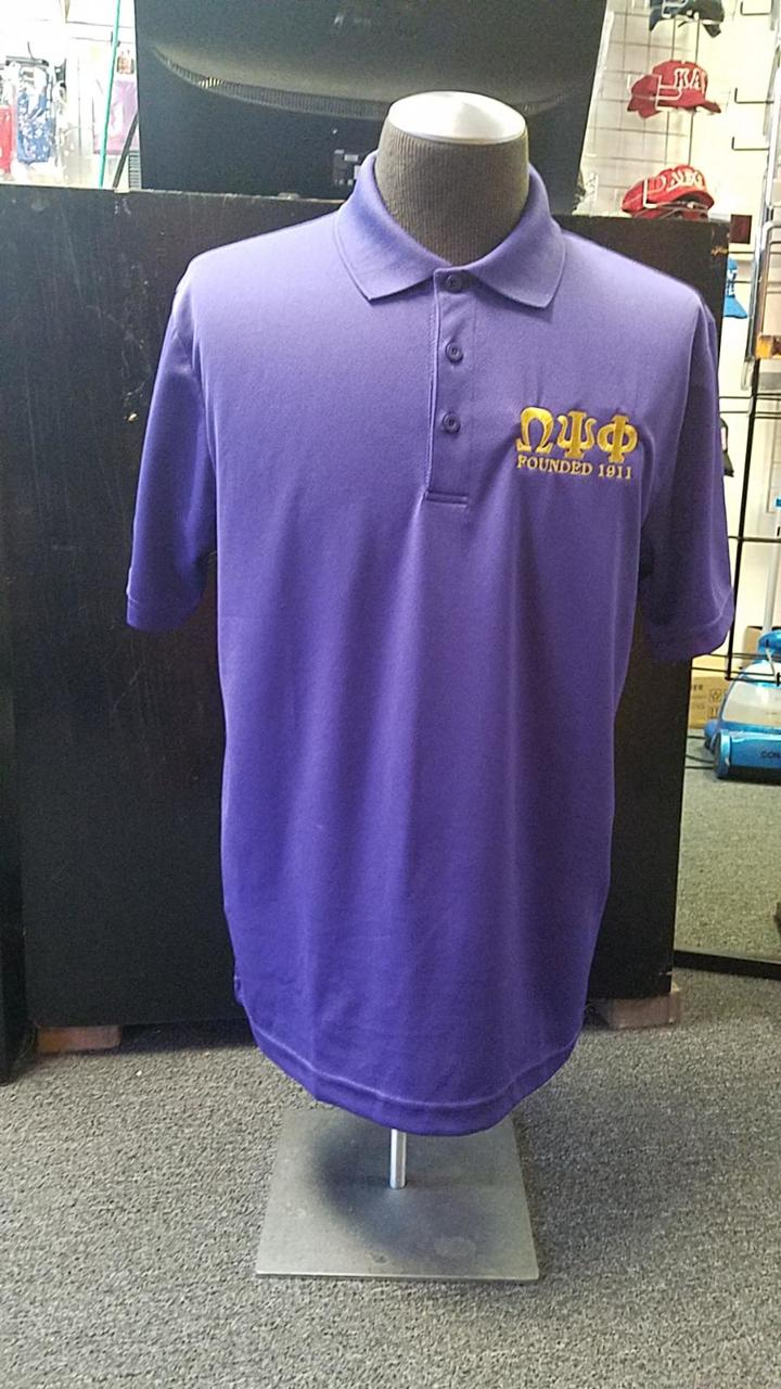 OPP FOUNDED DF POLO - PURPLE