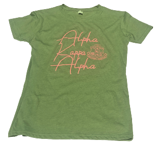 AKA SCRIPT SERIES - LADIES OLIVE GREEN