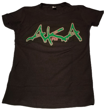 AKA GRAFFITI - LADIES BLACK