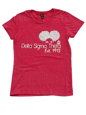 DST AFRO PUFF - HEATHER RED