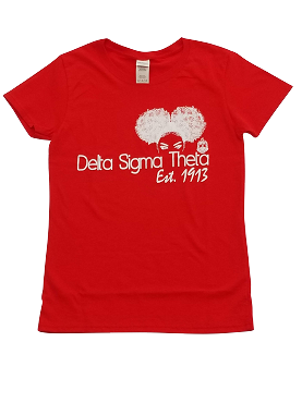 DST AFRO PUFF-LADIES RED