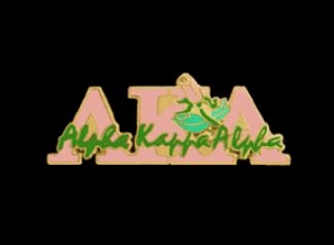 AKA - PIN SCRIPT ROSE PIN PINK