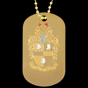 APA DBL SIDE DOG TAG - GOLD