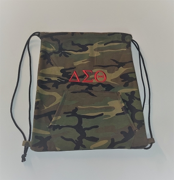 DST FLEECE DRAWSTRING BAG - CAMO