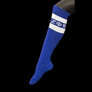 ZPB KNEE HIGH SOCKS ROYAL/WHITE